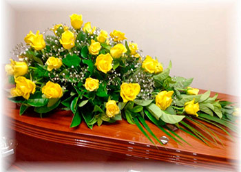 yellow roses mean at a funeral